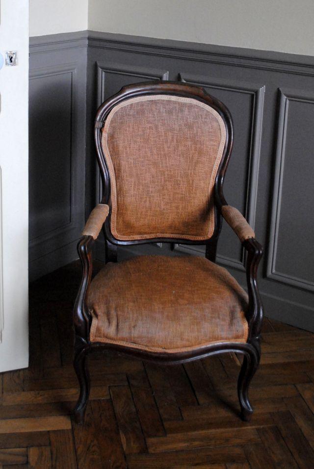 les 25 meilleures id es de la cat gorie recouvrir un fauteuil sur pinterest comment r nover un. Black Bedroom Furniture Sets. Home Design Ideas