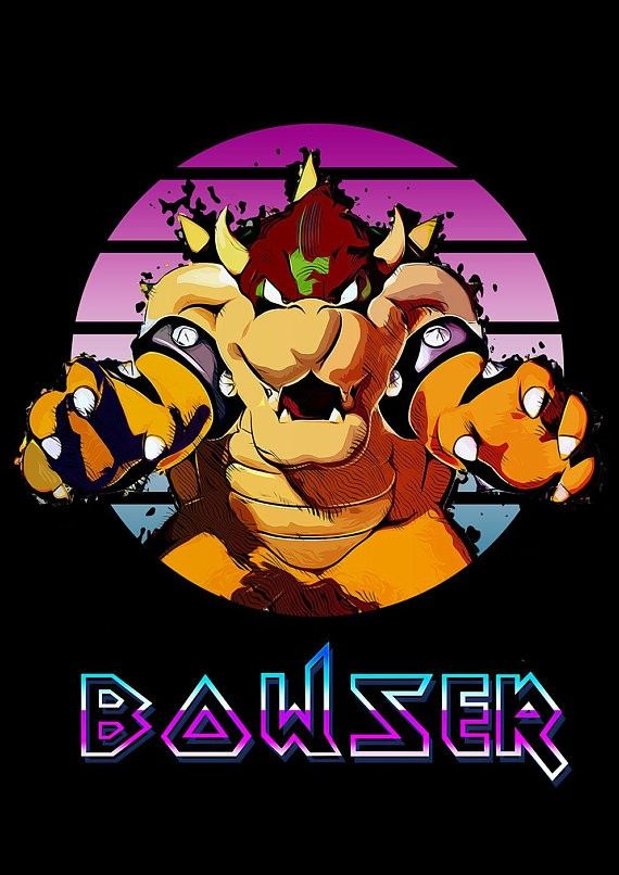 Bowser Bowser King Koopa Cool Artwork