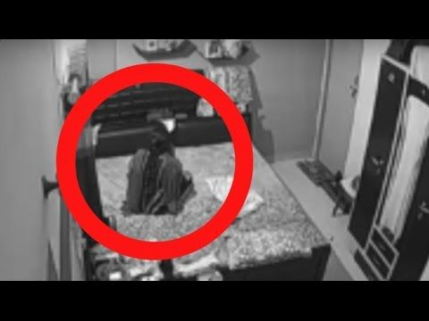 Ghost Pushing Girl Very Hard   Paranormal Activity Caught - YouTube