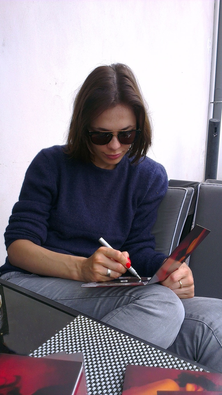 Repin & win this exclusive hand signed album from HUGO Tracks Artist Nina Kraviz! Follow HUGO BOSS on pinterest and repin this picture to one of your boards. A lucky winner will be drawn on July 21st, 2012 and contacted according to the information on their pinterest profile. Good luck! Terms & Conditions: http://www.hugoboss.com/documents/Terms_Conditions_Pinterest_HUGO_Fashion_Show.pdf