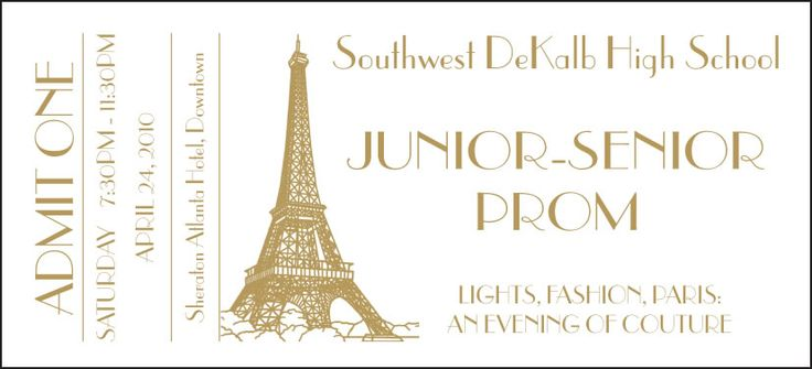Sample Prom Ticket Template - Ball Ticket Template