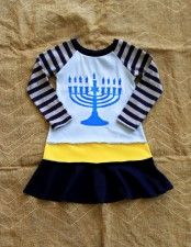 20% off at Lil Blue Boo! Click picture to go to the blog post for details!   LOVE this Limited Edition #Hanukkah #Menorah #Dress with Coordinating Doll Dress Option