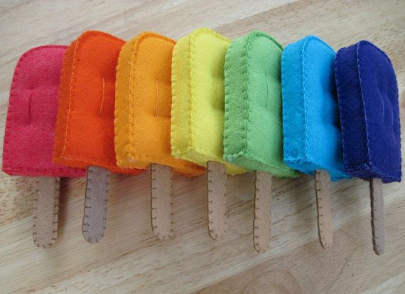 Felt Food Popsicle Frozen Treat Ice Pop Only by FiddledeeDeeCraft