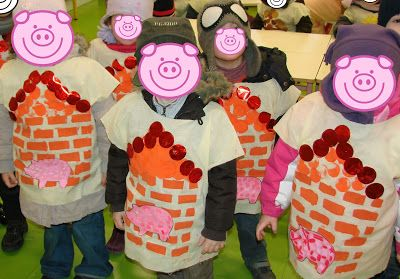 la classe de mademoiselle violette: Déguisement : Les 3 petits cochons