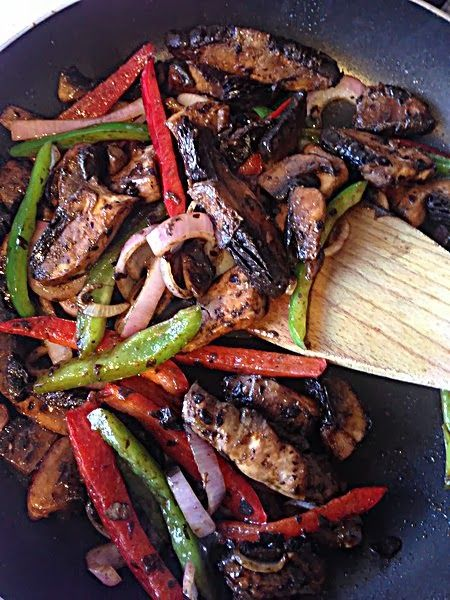 Mushroom Fajitas: Vegans Recipe, Mushrooms Fajitas, Portabella ...