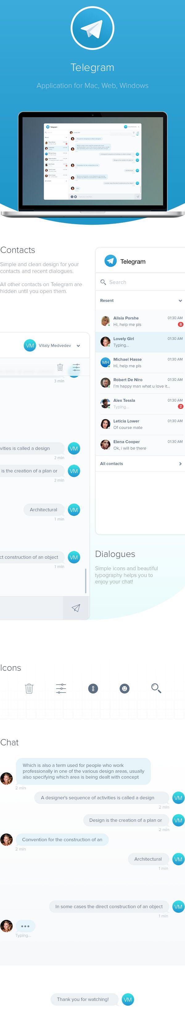 Telegram Messenger on Behance
