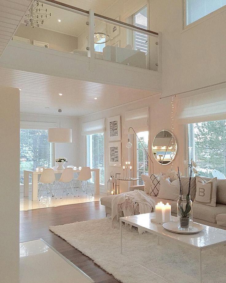 white clean living room decor humbleabode housedecor decor livingroomdecorations  ...