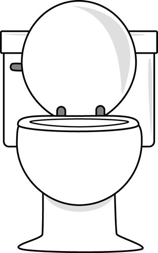 Toilets Clip Art And Bathroom On Pinterest