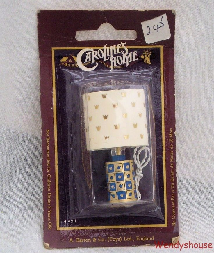 vintage carolines home dolls house light lamp no3 moc free uk p u0026 p