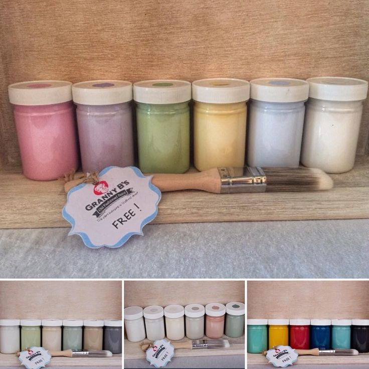 Granny B's Old Fashioned Paint starter kits in 6x125ml with FREE brush!