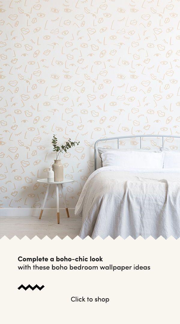Pin Op Home Improvement Diy Boho bedroom wallpaper ideas