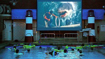 Cinema Pool Screens Jaws Orange Uk Cool Swimming Pools Pinterest Orange Uk Swim And Orange