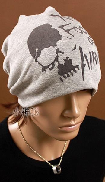 Мужская шапка с черепом