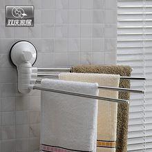 Forte barra de toalha ventosa de aço inoxidável haste toalheiros rotação banheiro otário adesivo toalha pendurada 1987