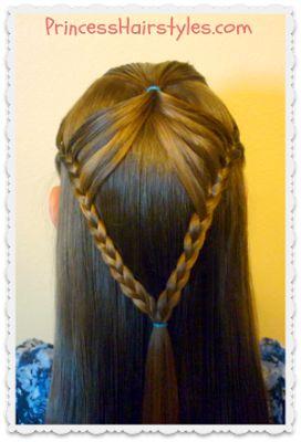 Fairy Wings Braid, Half Up #Hairstyles Tutorial