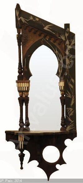 CARLO BUGATTI mirrored wall bracket