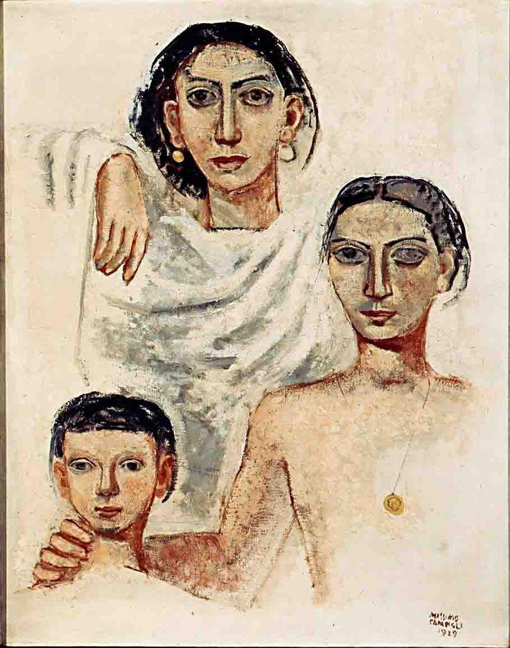 Famiglia, 1929 by Massimo Campigli (Italian 1895 - 1971), olio su tela, Museo del Novecento.