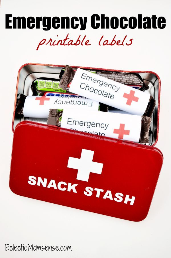 Emergency Chocolate & Snack Stash Tin | Printable SNICKERS® candy wrappers. [ad] #EatASnickers