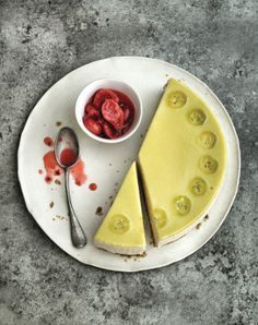 Raymond Blanc's Green Gooseberry Jelly Cheesecake and Red Gooseberry Compote