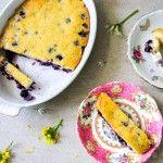 Yoghurtcake met blauwe bessen