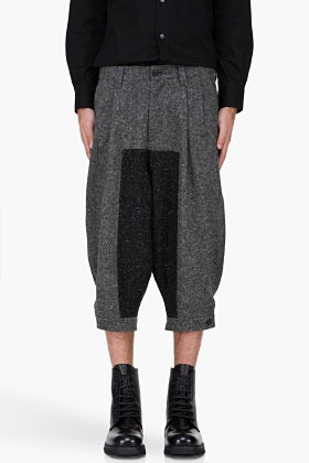 Visions of the Future: Get out of my screen (and dreams) and into my closet.  Robert Geller Oversize Charcoal Jodhpur Pants for Men | SSENSE