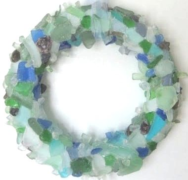 sea glass wreath -wow I love this