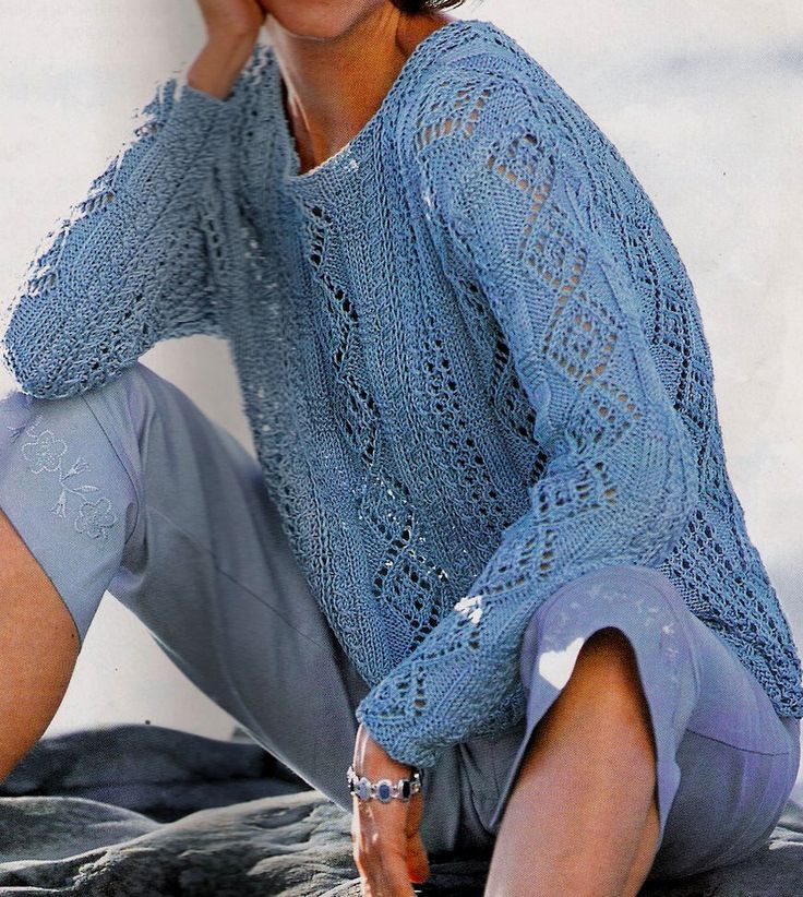 Blue Pullover (knitting)