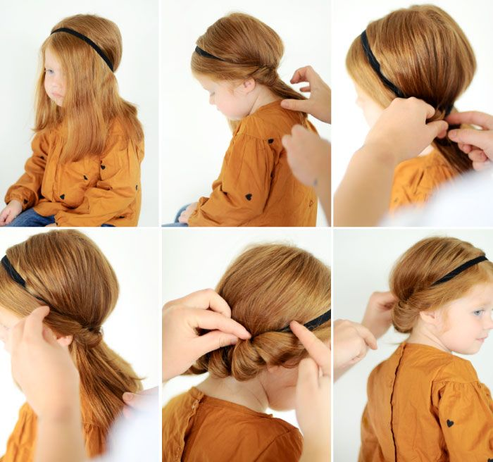 The Sweet Roll - easy updo for your girl