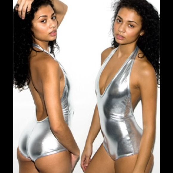 Listings you may like American Apparel lame silver halter bodysuit small American Apparel Lame Bodysuit American Apparel Lame Venus Bodysuit American Apparel Lame Venus Bodysuit American Apparel white halter bodysuit- small American apparel halter bodysuit