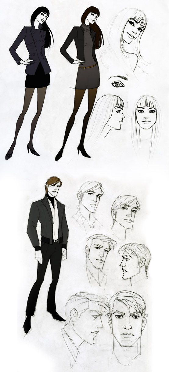 sketches by ~javieralcalde on deviantART ✤ || CHARACTER DESIGN REFERENCES