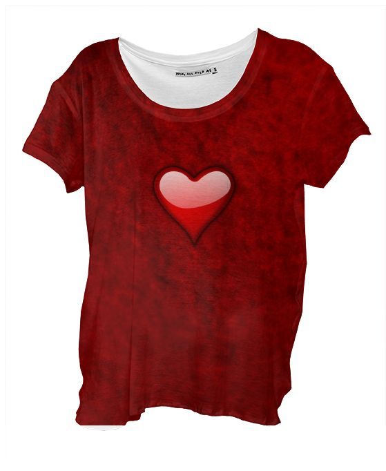 Sweet Love Drape Shirt by Elena Indolfi from #Printalloverme