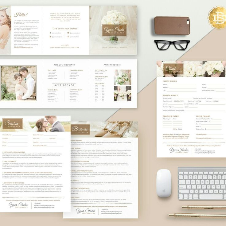 What you will get? You will get Adult Minor Release, Invoice, Pricing Guide, Session Contract, Print Release, Gift Certificate, Booking Form, Photo Print Order and Business Policies. All in PSD format and some in .DOCX format. You gonna love this!