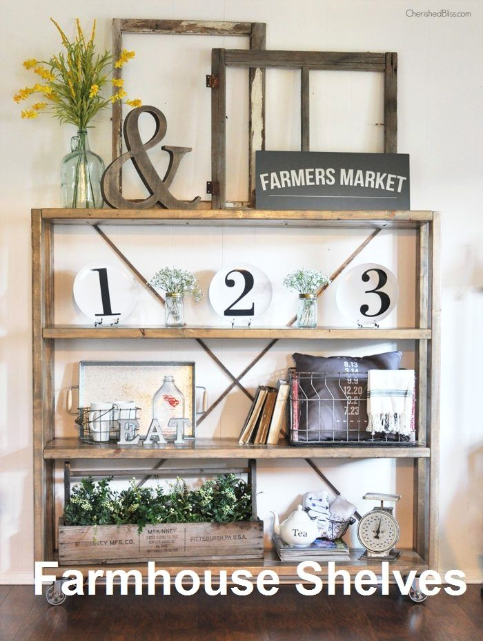 Pin On Farmhouse Shelves