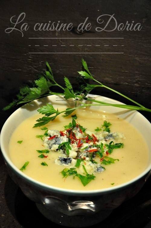 Velouté de céleri rave au #Roquefort Papillon - La cuisine de Doria // Plus de #recette au roquefort sur le blog Les recettes Roquefort Papillon : www.recetteroquefort.fr