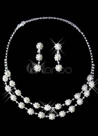 #Milanoo.com Ltd          #Wedding Jewelry Sets     #Double #Layers #Silver #Plated #Rhinestone #Necklace #Earrings #Wedding #Jewelry                       Double Layers Silver Plated Rhinestone Necklace Earrings Wedding Jewelry Set                            http://www.seapai.com/product.aspx?PID=5692381