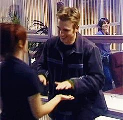 Chris Evans & Scarlett Johanson, behind the scenes of The Perfect Score. A.N playing slaps