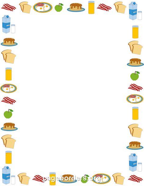 Breakfast Border ÉlelmiszerekFood Pinterest Food