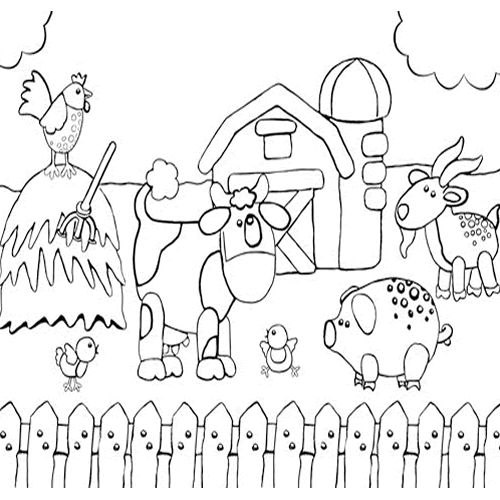 farm animals and farm theme coloring pages suitable for