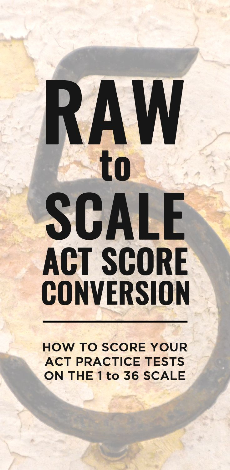 Raw to Scale ACT Score Conversion: How to Score Your ACT PRactice Tests on the 1 to 36 Scale