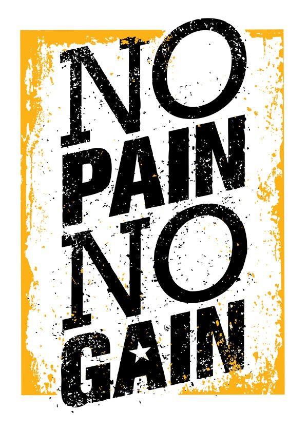Quadro No Pain No Gain | Fábrica9