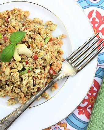 Raw vegan chicken salad