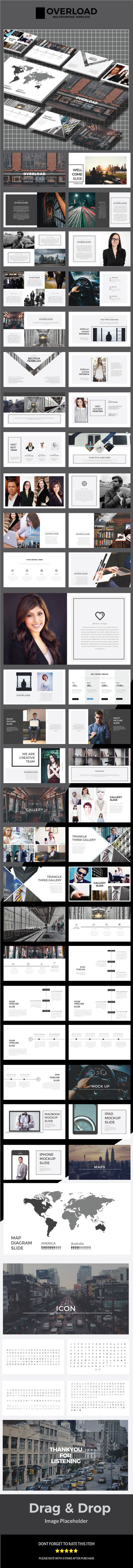 OVERLOAD Keynote Template - Business #Keynote #Templates Download here: https://graphicriver.net/item/overload-keynote-template/19482993?ref=alena994