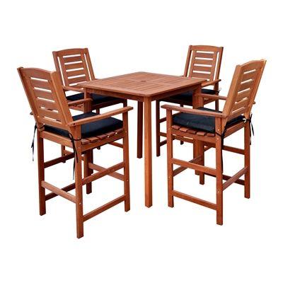CorLiving PEX-263-Z Miramar 5-Piece Outdoor Bar Height Dining Set