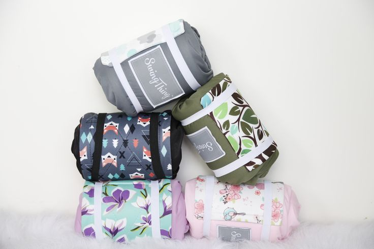 The Swing Thing comes in a variety of fun prints. It is BPA free, waterproof and washable.