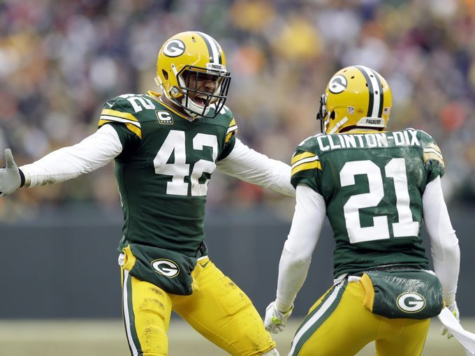 Green Bay Packers strong safety Morgan Burnett (42)