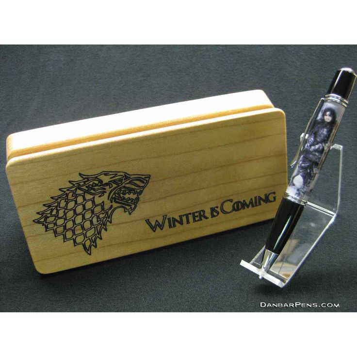 Handmade Pen - Game Of Thrones custom picture and engraved wood penbox.