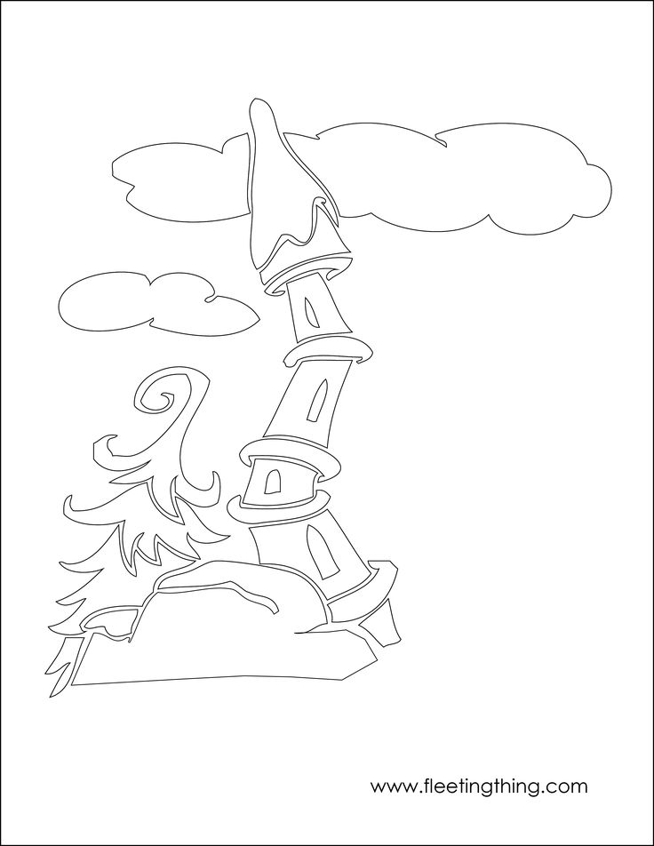 57 Best Images About Grinch Tree Ideas On Pinterest Whoville Tree Coloring Page
