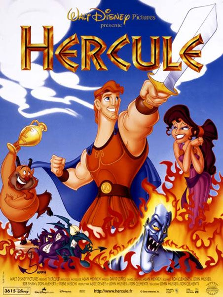 Affiche du dessin animé Hercule sortie en 1997