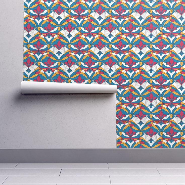 Interwoven XX_Raspberry on Isobar by mia_valdez | Roostery Home Decor #Pattern #Woman #Girls #Cubism #Curvism #Ladies #March #Women-day #girly #Sisterhood #Lis #Flower #ChromosomesXX #Blue #Raspberry #Mia #Roosteryhome #Wallpaper
