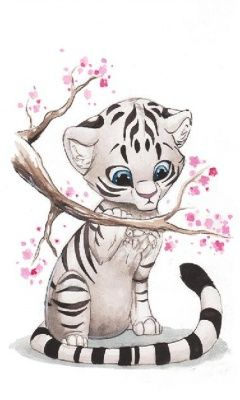 I am in love with white tigers. Especially baby white tigers.